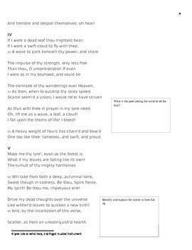 Sir Percy Shelley Romantic Poetry Explication Worksheet Bundle