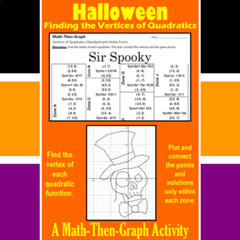 Sir Spooky - A Math-Then-Graph Activity - Finding Vertices
