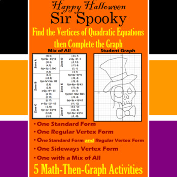Sir Spooky Finding Vertices 5 Math Then Graph Activities Tpt