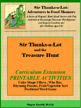 Sir Thanks-a-Lot and the Treasure Hunt - Printable Activities