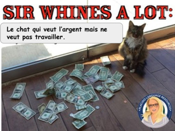 Sir Whines A Lot Le Chat!