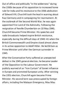Sir Winston Churchill Handout