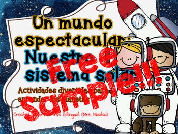 Sistema Solar FREE SAMPLE  Solar System in SPAN