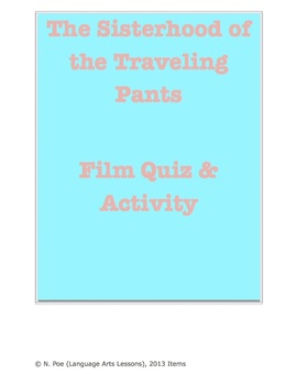 Sisterhood of the Traveling Pants Film Quiz and Comparison Activity