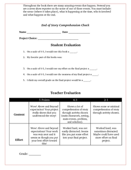 Sisters Grimm Fairytale Detectives Creative Reading Projects Rubric