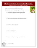 Sisters Grimm Fairytale Detectives Reading Test, Answer Key, Rubric