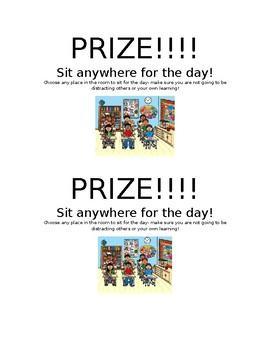 Sit Anywhere Reward