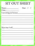 Sit Out Sheet
