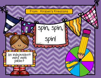 Spin, spin, spin!  an independent word work packet