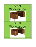 Sit at Workstation / Desk Visual Prompt Special Education Autism