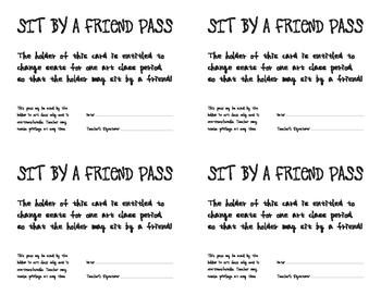 Sit by a Friend Pass