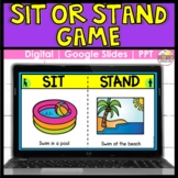 This or That   Sit or Stand   Distance Learning Game