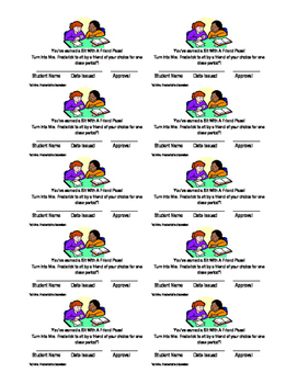 Sit with a Friend Pass (editable)