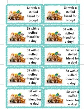 Sit with a Stuffed Friend Coupon