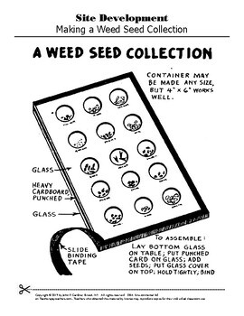 Site Development - Weed Seed Collection