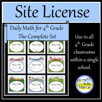Site License - Complete Set of Daily Math for 4th Grade