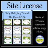 Site License - Complete Set of Daily Math for 5th Grade