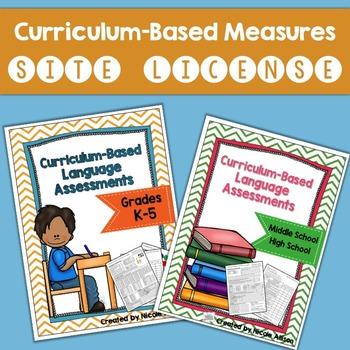 Site License: Curriculum-Based Language Assessments