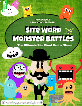 Site Word ELA Center (1st Grade) Monster Site Word Battle Game SALE!!