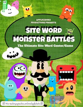 Site Word ELA Center (1st Grade) Monster Site Word Battle