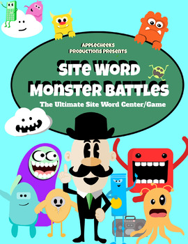 Site Word ELA Center (1st- Second Grade) Monster Site Word Battle Game SALE!!