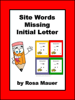 Sight Words Missing Initial Letter