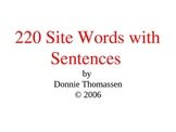 Site Word Powerpoint with Sentences
