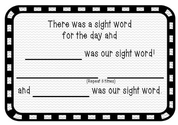 Site Word Song