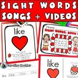 Songs for Sight Words: Music, Books, & Videos for Regular