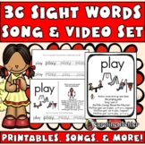 Sight Word Songs: Posters, Flashcards, Books, Videos, & Au