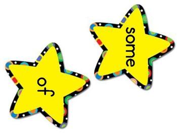 Site Word Stars Activity Set 2