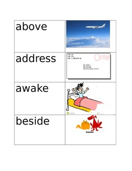 Site Words with Pictures!