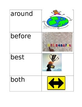 Site Words with Pictures-Lower grades