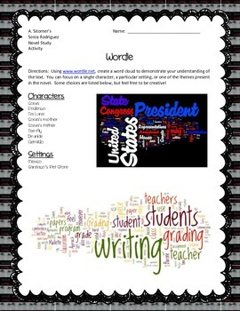 Sitomer's Secret Story of Sonia Rodriguez (Wordle Activity or Alt. Assess.)