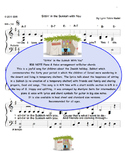 Sittin' in the Sukkah With You - Big Note piano song for Sukkot
