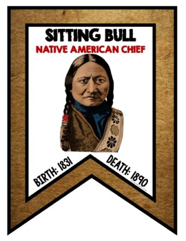 Sitting Bull Biography Research, Bookmark Brochure, Pop-Up, Writing