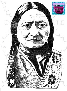 Sitting Bull Clipart - Realistic Image