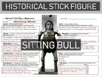 Sitting Bull Historical Stick Figure (Mini-biography)