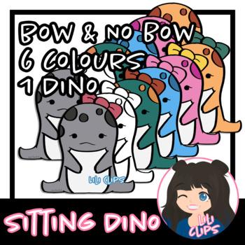 Sitting Dinosaur Clipart