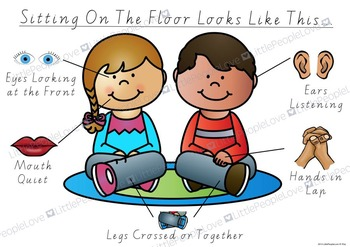 Sitting On The Floor Classroom Poster