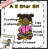 Sitting on the Carpet Visuals | Classroom management Posters Sit