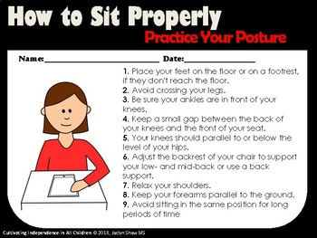 Sitting Posture Board