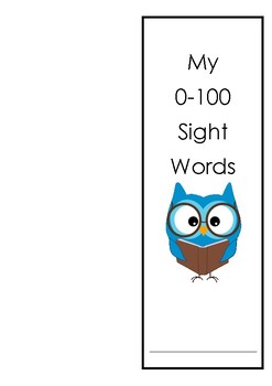 Sitton Sight Word Booklet (words 0-100) with victory certificates