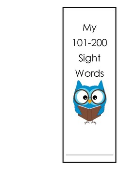 Sitton Sight Word Booklet (words101-200) with victory certificates