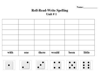 Sitton Spelling Core Words Grade 3 Unit 1