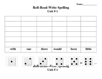 Sitton Spelling Core Words Roll Read Write 3rd Grade