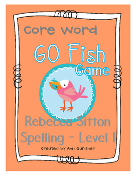 Sitton Spelling - GO Fish - Level One Core Words Game