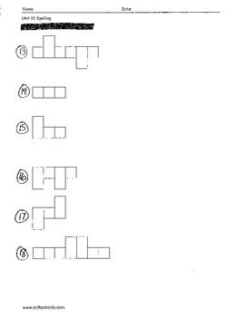 Sitton Spelling (Unit 10) - 3rd Grade - Word Test Modification