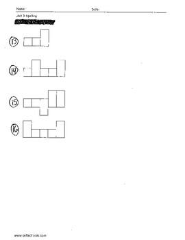 Sitton Spelling (Unit 3) - 3rd Grade - Word Test Modification