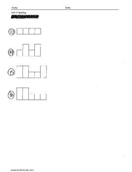 Sitton Spelling (Unit 4) - 3rd Grade - Word Test Modification